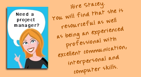Hire Stacey as your Project Manager